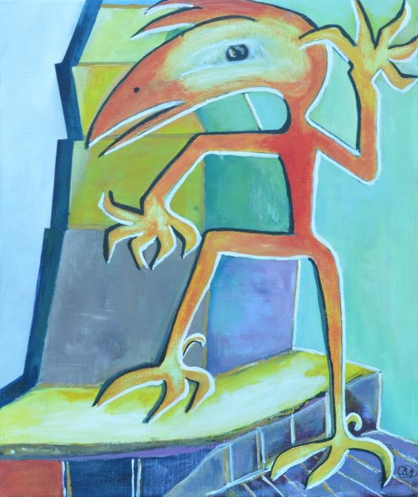 52260 Kunst af Birgit Mau_på vej op
